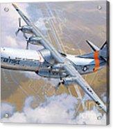 C-133 Cargomaster Over Travis Acrylic Print