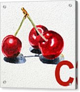 C Art Alphabet For Kids Room Acrylic Print