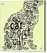 C Is For Cat Acrylic Print