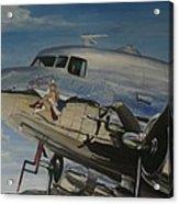 C47b Skytrain Bluebonnet Belle  Warbird 1944 Acrylic Print