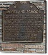 Ca-489 Moreland School Acrylic Print