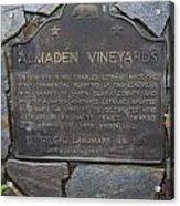 Ca-505 Almaden Vineyards Acrylic Print