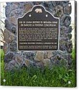 Ca-524 Site Of Juana Briones De Miranda Home On Rancho La Purisima Concepcion Acrylic Print