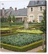Cabbage Garden  Chateau Villandry Acrylic Print