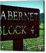 Cabernet Block 4 Acrylic Print