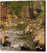 Cabin By The Creek Acrylic Print