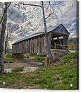 Cabin Creek Covered Bridge Acrylic Print