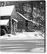 Cabin Fever In Black And White Acrylic Print