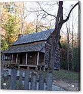 Cabin In Cade's Cove Acrylic Print by Regina McLeroy