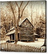 Cabin In Cades Cove Acrylic Print