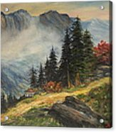 Cabin In The Alps Acrylic Print