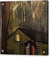Cabin In The Forest Acrylic Print