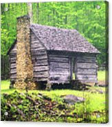 Cabin In The Smokies Acrylic Print by Marty Koch