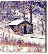 Cabin In The Snow Acrylic Print