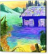Cabin In The Woods Acrylic Print