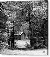 Cabin In The Woods  Acrylic Print by Kim Galluzzo Wozniak