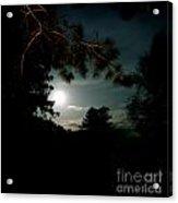 Cabin Moon Acrylic Print