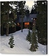 Cabin On The Mountain Acrylic Print by Angi Parks