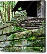 Cabin Staircase - Buttermilk Falls Acrylic Print