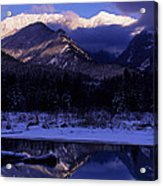 Cabinet Mountain Winter Acrylic Print