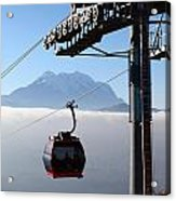 Cable Car Above The Andes Acrylic Print