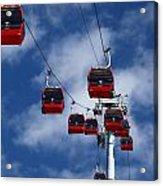 Red Line Cable Car Gondolas Bolivia Acrylic Print