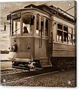 Cable Car In Porto Portugal Acrylic Print