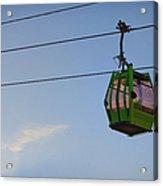 Cable Car In Zaragoza Acrylic Print