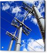 Cable Car Pillars Acrylic Print
