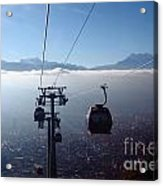 Cable Cars Over La Paz City Acrylic Print