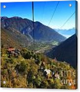 Cableway Over The Mountain Acrylic Print