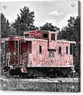 Caboose At Rest Acrylic Print