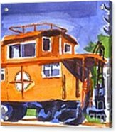 Caboose With Silver Signal Acrylic Print