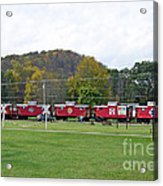 Cabooses In Upstate New York Acrylic Print
