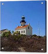 Cabrillo Lighthouse Acrylic Print by Judy  Waller