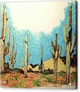 Cactus With A 'tude Acrylic Print