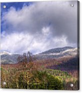 Cades Cove First Dusting Of Snow II Acrylic Print by Debra and Dave Vanderlaan