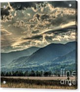Cades Cove Hdr Spring 2014 Acrylic Print