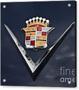 Cadillac Crest Acrylic Print