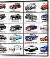 Cadillac La Salle Automotive Poster Acrylic Print