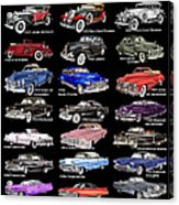 Never Enough Cadillacs  Acrylic Print