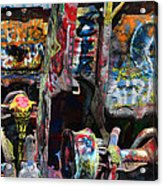 Cadillac Ranch Abstract Acrylic Print