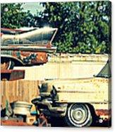 Cadillacs In Decay Acrylic Print