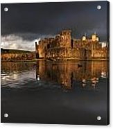 Caerphilly Castle Reflection Acrylic Print