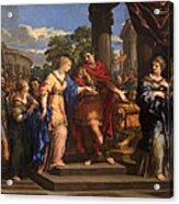 Caesar Giving Cleopatra The Throne Of Egypt, C.1637 Oil On Canvas Acrylic Print