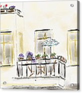 Cafe At Gorky Park Berlin Acrylic Print