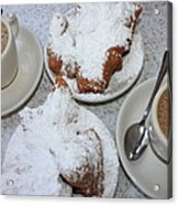 Cafe Au Lait And Beignets Acrylic Print by Carol Groenen