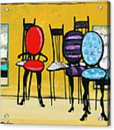Cafe Chairs Acrylic Print