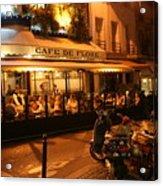 Cafe De Flore Acrylic Print
