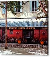 Cafe Des Arts   Acrylic Print by Michael Swanson
